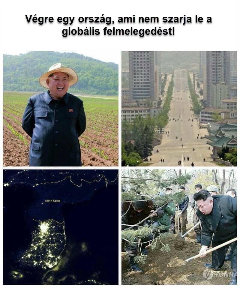 észak-korea globális felmelegedés